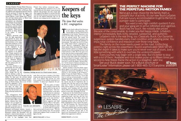 Article Preview: Keepers of the keys, May 1989 | Maclean's
