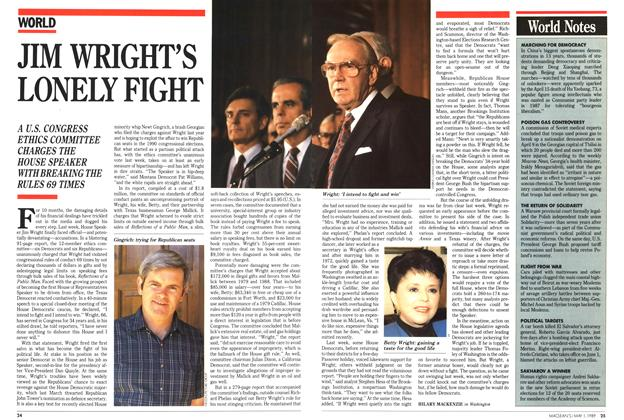 Article Preview: JIM WRIGHT'S LONELY FIGHT, May 1989 | Maclean's