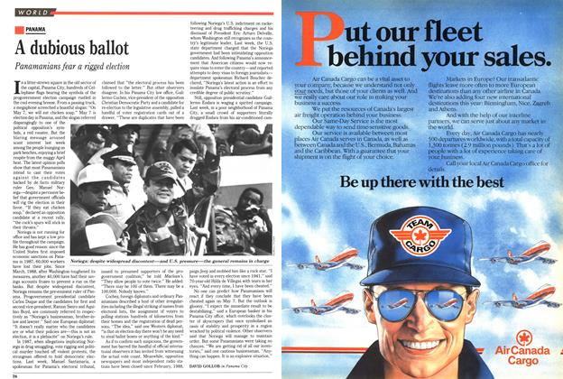 Article Preview: A dubious ballot, May 1989 | Maclean's