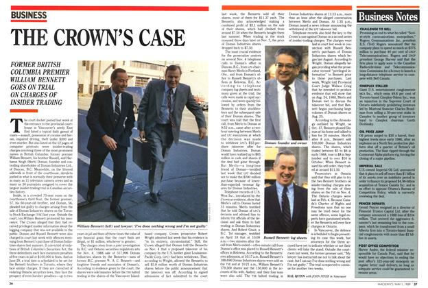 Article Preview: THE CROWN'S CASE, May 1989 | Maclean's
