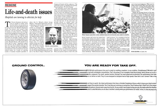 Article Preview: Life-and-death issues, May 1989 | Maclean's