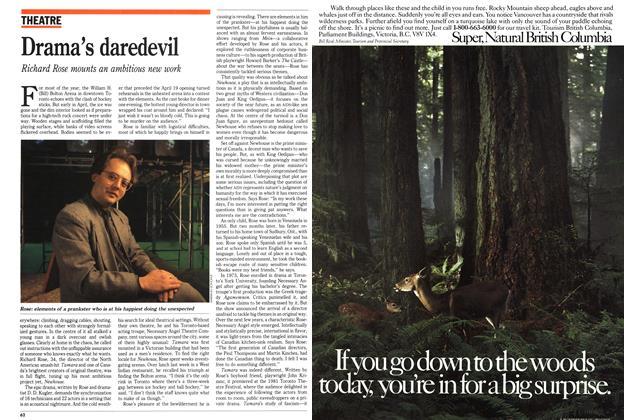 Article Preview: Drama's daredevil, May 1989   Maclean's