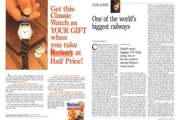 Article Preview: One of the world's biggest railways, May 1989 | Maclean's