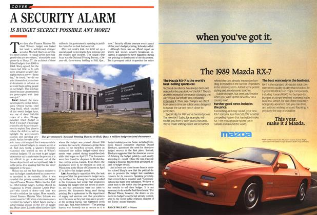 Article Preview: A SECURITY ALARM, May 1989 | Maclean's