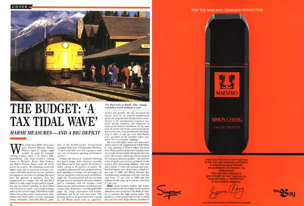 Article Preview: THE BUDGET: 'A TAX TIDAL WAVE', May 1989 | Maclean's
