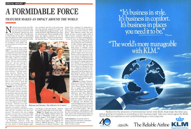 Article Preview: A FORMIDABLE FORCE, May 1989 | Maclean's