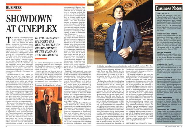 Article Preview: SHOWDOWN AT CINEPLEX, May 1989 | Maclean's