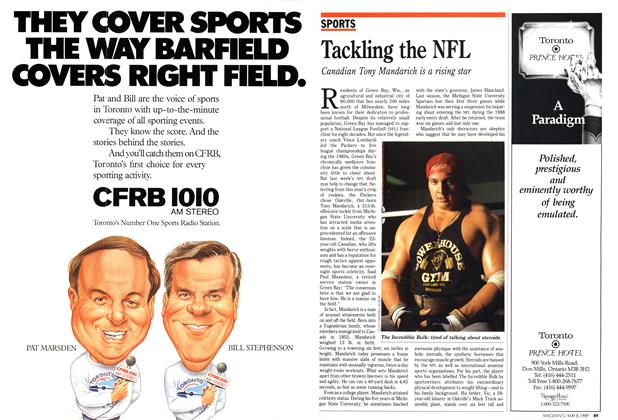 Article Preview: Tackling the NFL, May 1989 | Maclean's