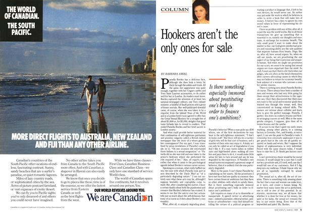 Article Preview: Hookers aren't the only ones for sale, May 1989 | Maclean's
