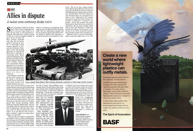 Article Preview: Allies in dispute, May 1989 | Maclean's