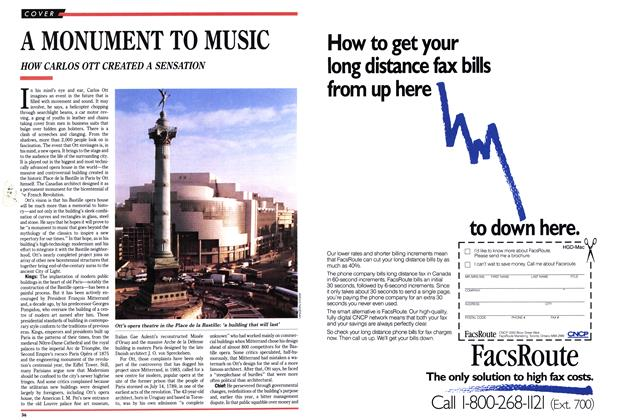 Article Preview: A MONUMENT TO MUSIC, May 1989 | Maclean's