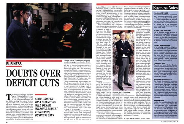 Article Preview: DOUBTS OVER DEFICIT CUTS, May 1989 | Maclean's