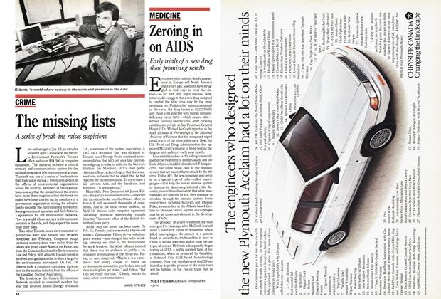 Article Preview: Zeroing in on AIDS, May 1989 | Maclean's