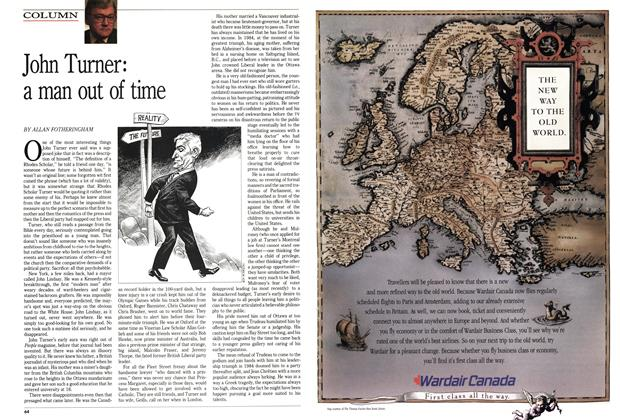 Article Preview: John Turner: a man out of time, May 1989 | Maclean's