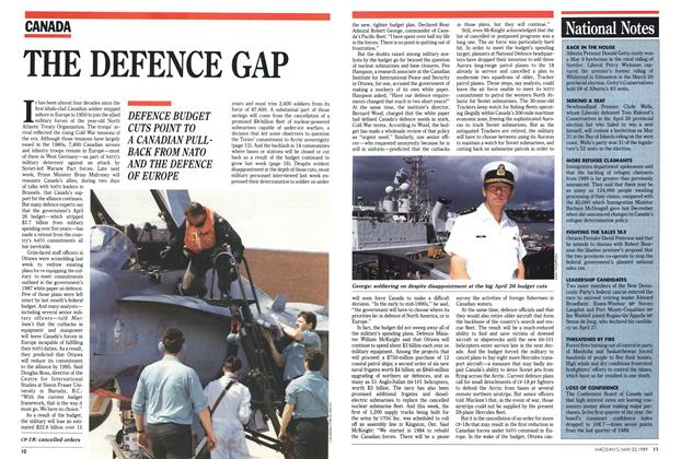 Article Preview: THE DEFENCE GAP, May 1989 | Maclean's