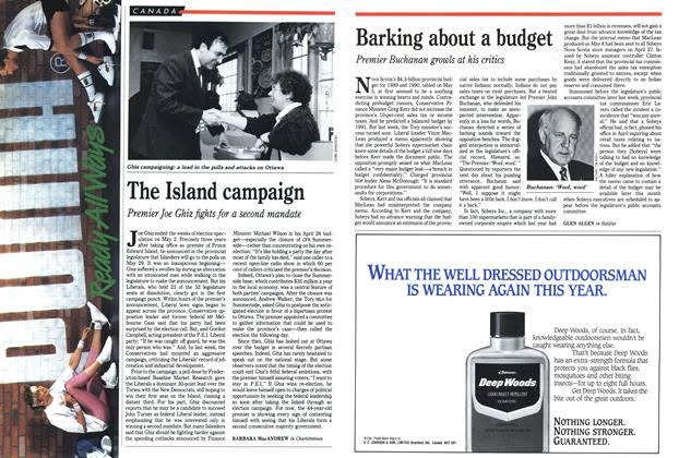 Article Preview: Barking about a budget, May 1989 | Maclean's