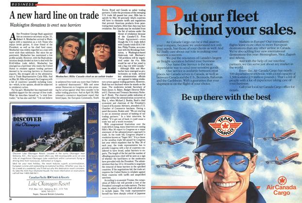 Article Preview: A new hard line on trade, May 1989 | Maclean's