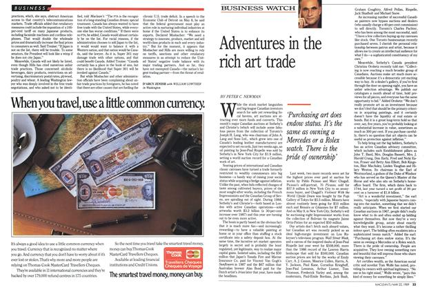 Article Preview: Adventures in the rich art trade, May 1989   Maclean's