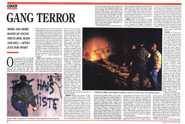 Article Preview: GANG TERROR, May 1989 | Maclean's