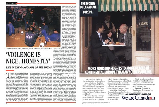 Article Preview: 'VIOLENCE IS NICE. HONESTLY', May 1989 | Maclean's