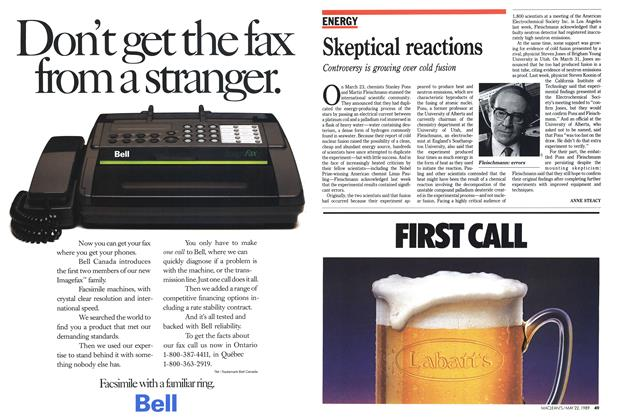 Article Preview: Skeptical reactions, May 1989 | Maclean's