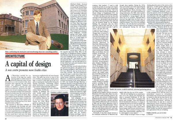 Article Preview: A capital of design, May 1989 | Maclean's