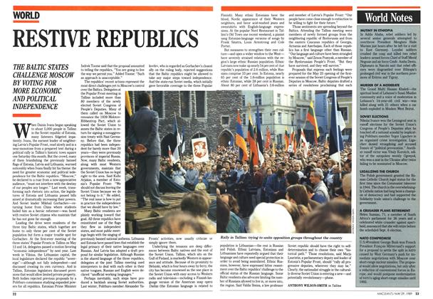 Article Preview: RESTIVE REPUBLICS, May 1989 | Maclean's