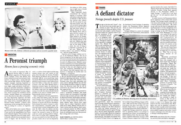 Article Preview: A Peronist triumph, May 1989 | Maclean's