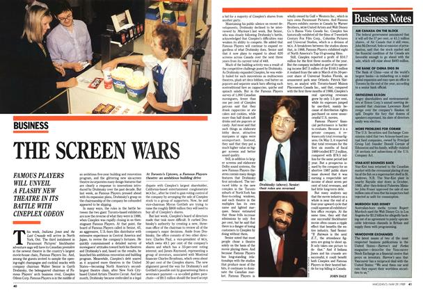 Article Preview: THE SCREEN WARS, May 1989 | Maclean's