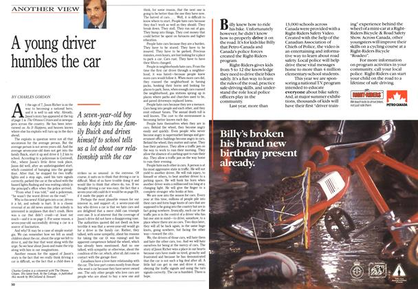 Article Preview: A young driver humbles the car, May 1989 | Maclean's