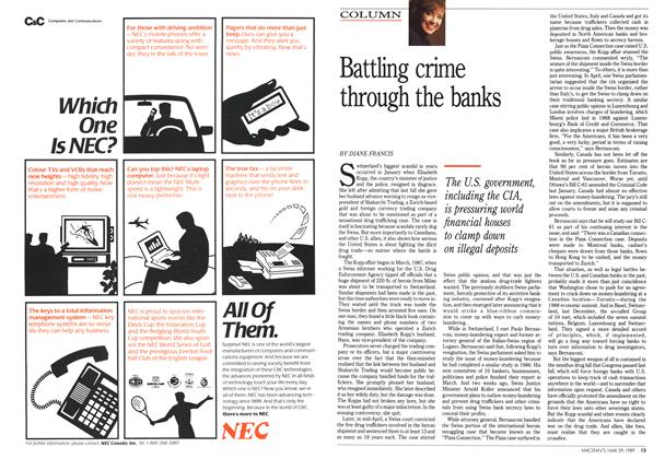 Article Preview: Battling crime through the banks, May 1989 | Maclean's