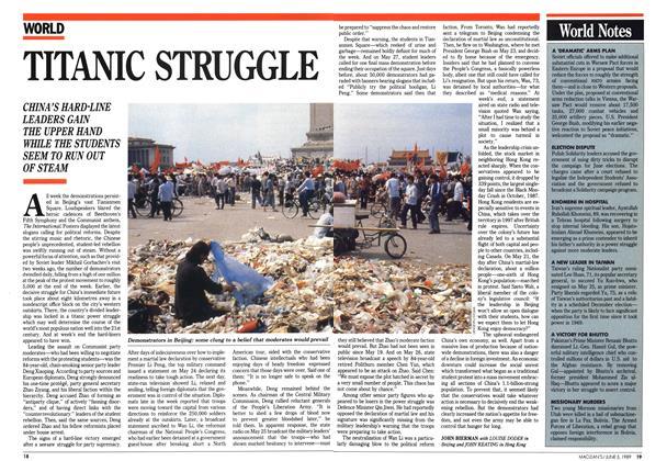 Article Preview: TITANIC STRUGGLE, June 1989 | Maclean's