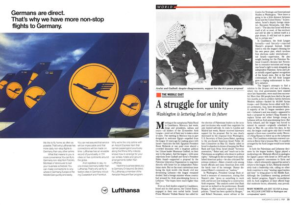 Article Preview: A struggle for unity, June 1989 | Maclean's