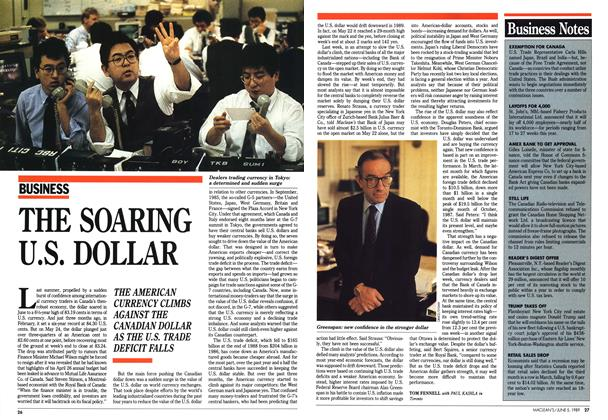 Article Preview: THE SOARING U.S. DOLLAR, June 1989 | Maclean's