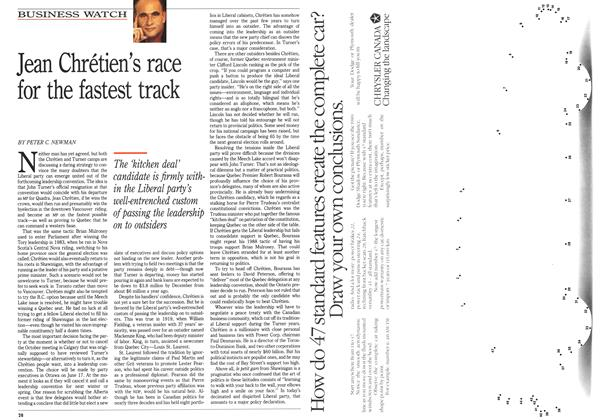 Article Preview: Jean Chrétien's race for the fastest track, June 1989 | Maclean's