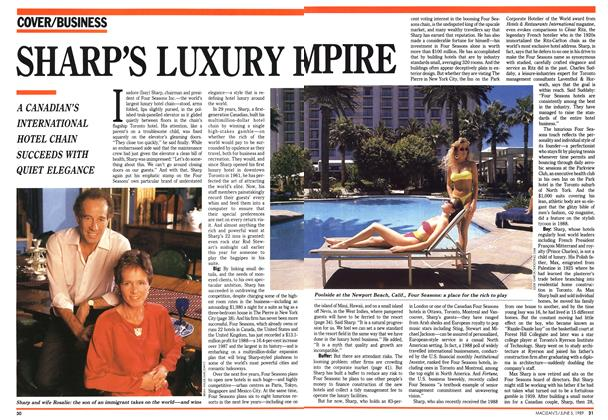 Article Preview: SHARP'S LUXURY EMPIRE, June 1989 | Maclean's