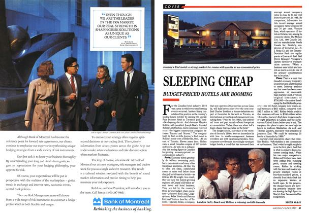 Article Preview: SLEEPING CHEAP, June 1989 | Maclean's