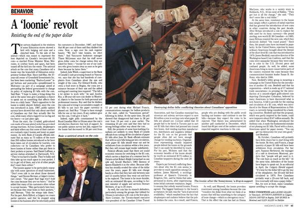 Article Preview: A 'loonie' revolt, June 1989 | Maclean's