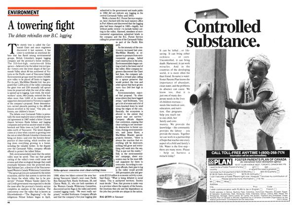 Article Preview: A towering fight, June 1989 | Maclean's