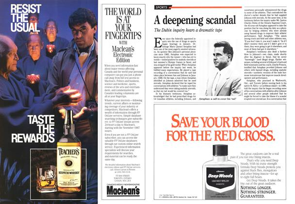 Article Preview: A deepening scandal, June 1989 | Maclean's