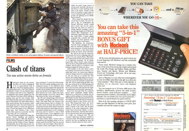 Article Preview: Clash of titans, June 1989 | Maclean's