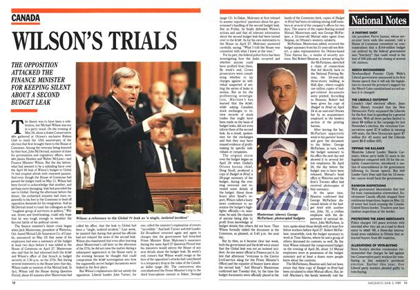 Article Preview: WILSON'S TRIALS, June 1989 | Maclean's