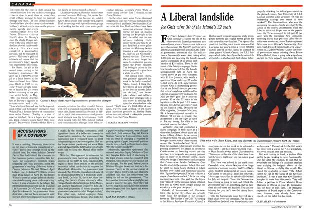 Article Preview: ACCUSATIONS OF A COVERUP, June 1989 | Maclean's