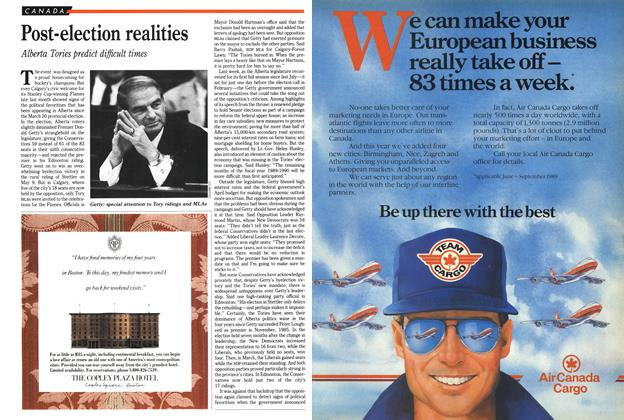 Article Preview: Post-election realities, June 1989 | Maclean's