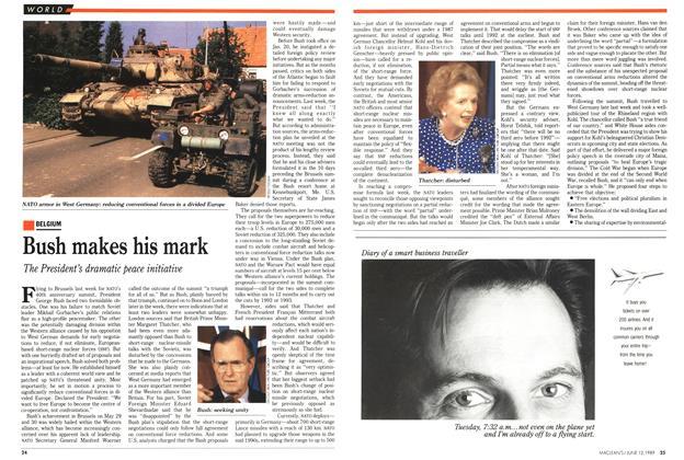Article Preview: Bush makes his mark, June 1989 | Maclean's