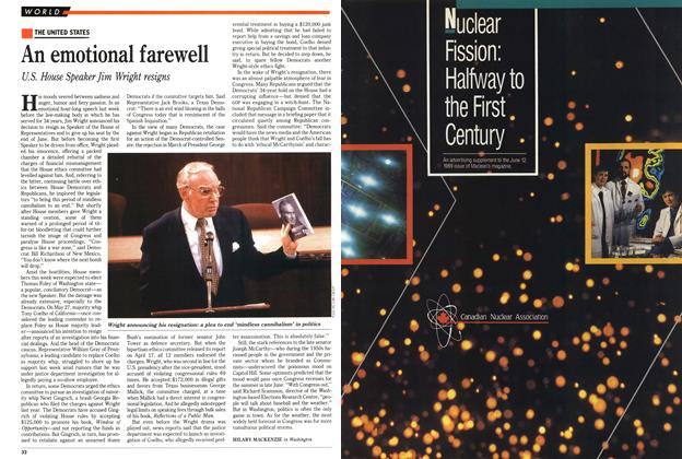 Article Preview: An emotional farewell, June 1989 | Maclean's