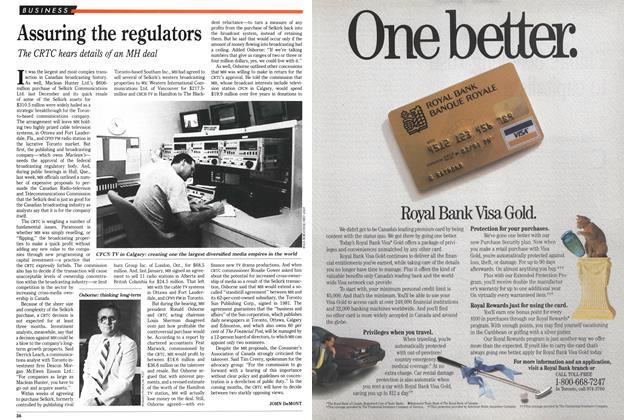 Article Preview: Assuring the regulators, June 1989 | Maclean's