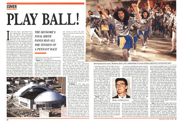 Article Preview: PLAY BALL!, June 1989 | Maclean's