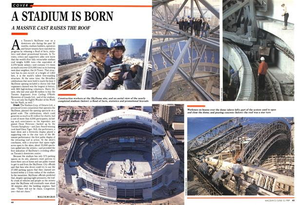 Article Preview: A STADIUM IS BORN, June 1989 | Maclean's