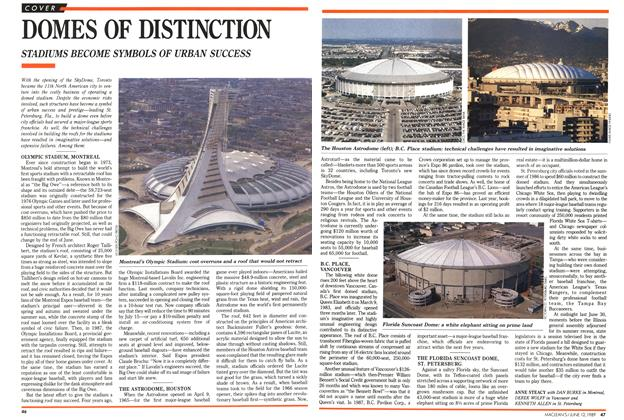 Article Preview: DOMES OF DISTINCTION, June 1989 | Maclean's